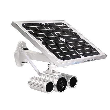 OWSOO Cámara Bala de Vigilancia HD 1080P WiFi Cámara IP Inalámbrico Solar y de Batería IR