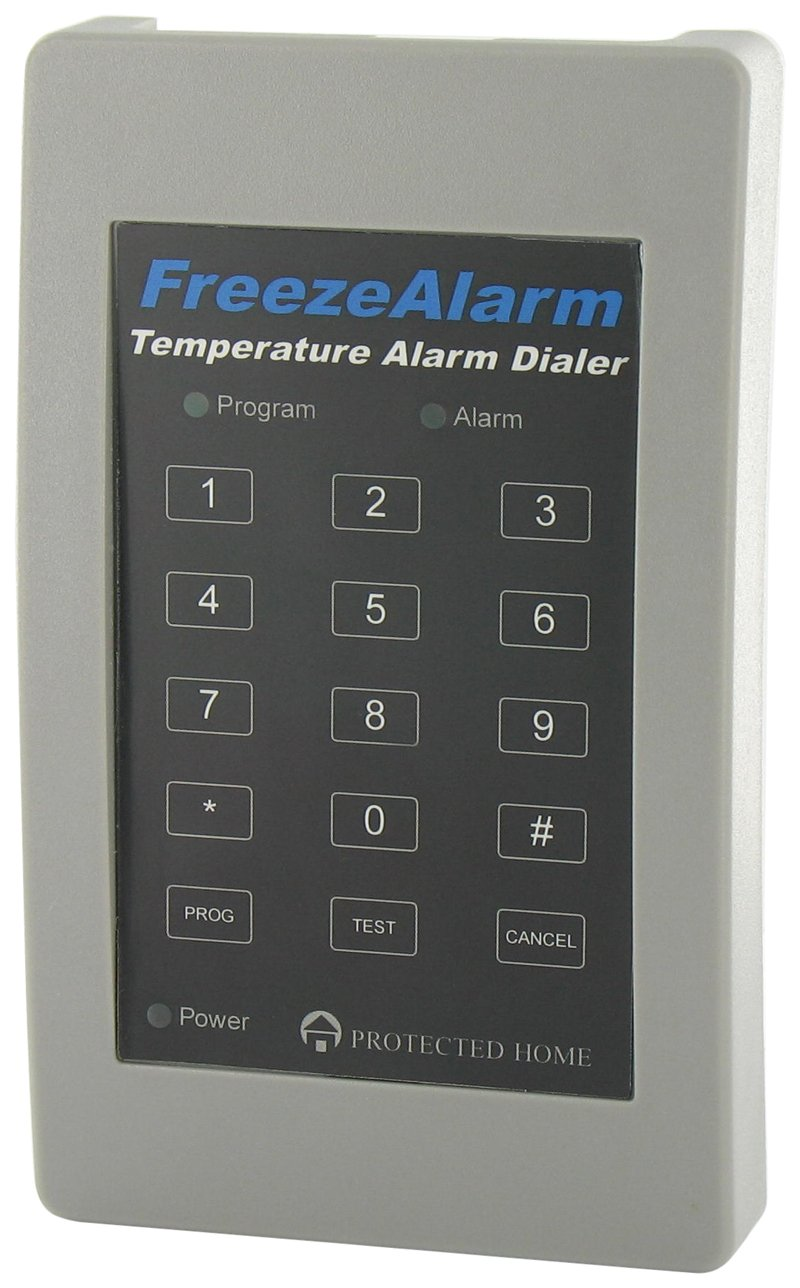 Control Products FreezeAlarm Dialer Temperature Alarm FA-700 with 1 phone voice message notification / monitor for low or high temperature extremes / No monitoring fees