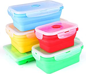 Collapsible silicone storage set of 4 plus bonus Ice tray
