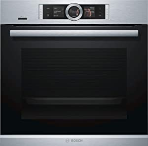 Bosch HBE5452UC 500 Series 24 Inch Smart 2.5 cu. ft. Total Capacity Electric Single Wall Oven with 3 Oven Racks, in Stainless Steel