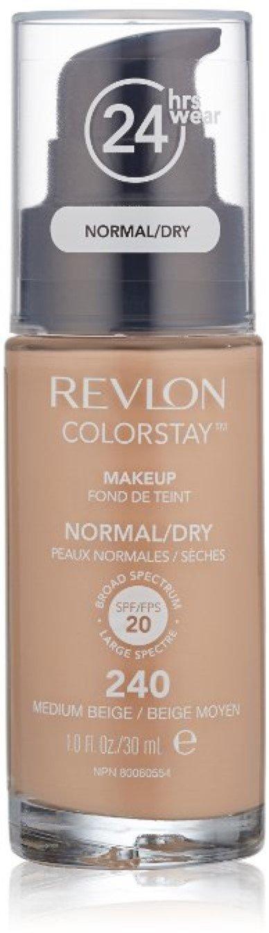 Revlon Colorstay for Normal/Dry Skin Makeup, Medium Beige 1 oz (Pack of 3)