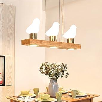 Leuchter Esszimmer Kronleuchter 3 Kopfe Aus Holz Pendelleuchte