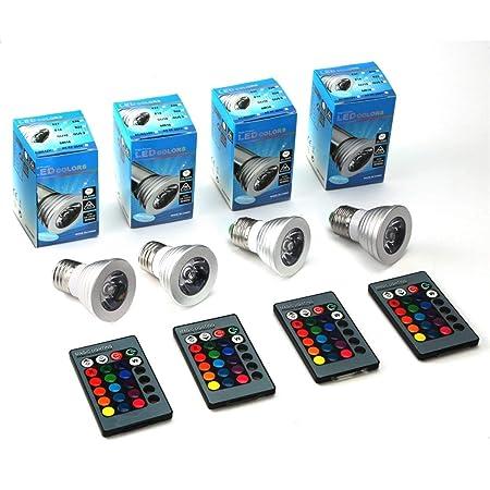 Funnyrunstore Aleación de Aluminio Ligera Mini E27 RGB Lámpara LED ...