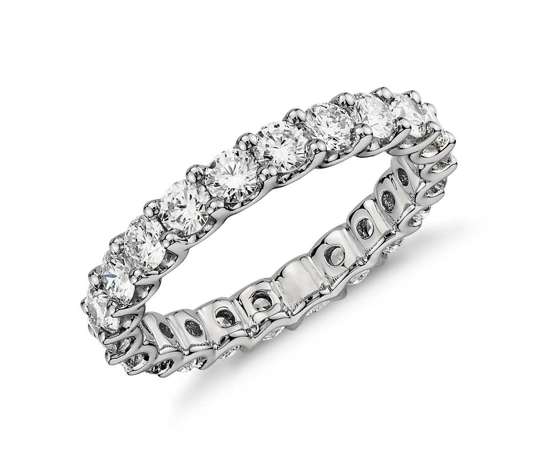 3.55mm Sterling Silver 925 Cubic Zirconia Cz Eternity Engagement Wedding Band Ring (7)