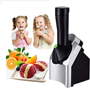Ice Cream Maker, Home Portable Soft Serve Ice Cream Machine, Delicious Ice Cream Sorbet and Frozen Yogurt Machine, with Countdown Timer, Used for Making Frozen Fruit Desserts