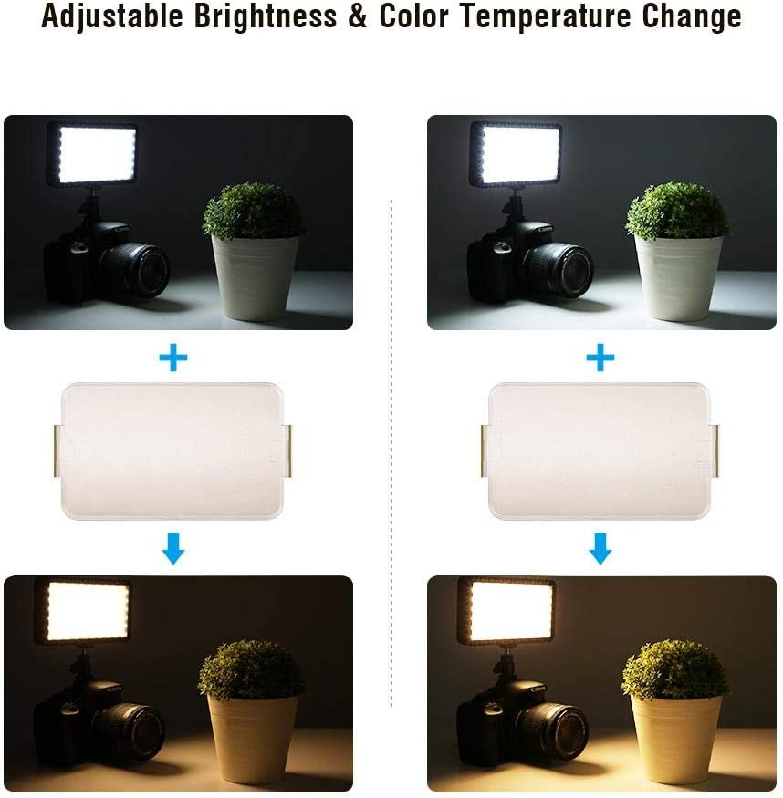 Camera Light LED PAD192 3200K-6000K Color Temperature High Brightness Ultra-Thin LED Camera Video Light 6000K Color Temperature High Brightness 192pcs Led