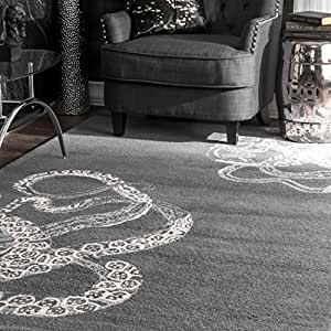 Nuloom 5' x 8' Hand Tufted Octopus Tail Rug in Midnight