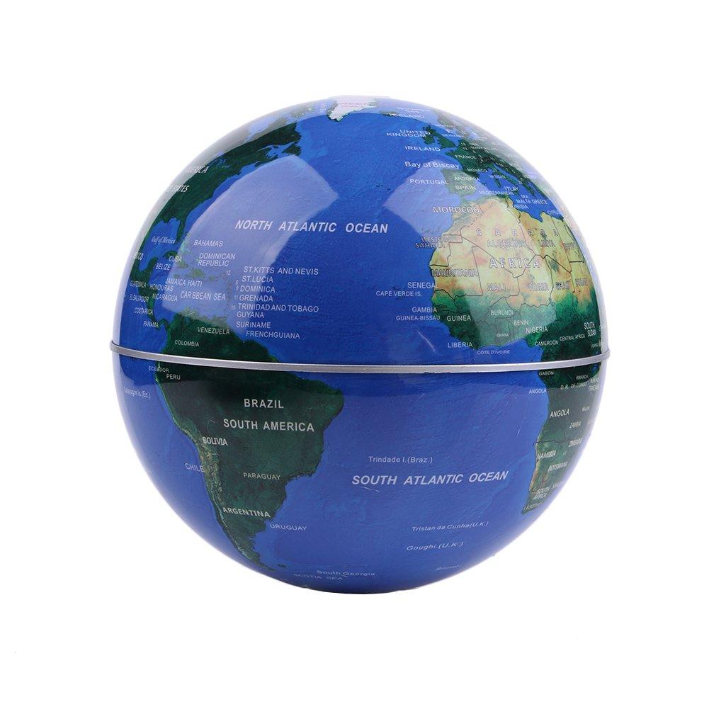 Globo flotante de levitación magnética Mapa mundial rotativo - Globo antigravedad para regalo educativo - Oficina en casa Decoración de escritorio de clase ...