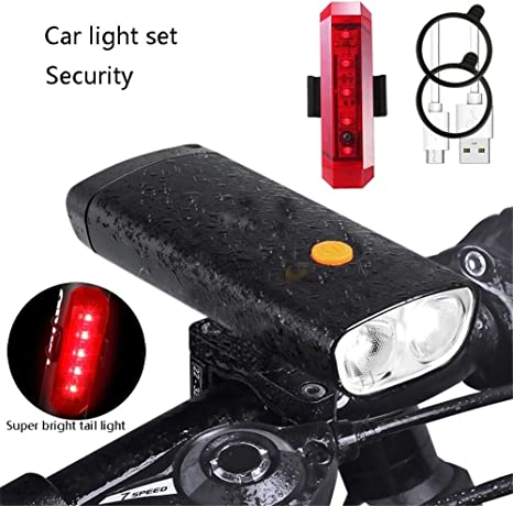 Juego de luces para bicicleta, súper brillante de 1000 lúmenes ...