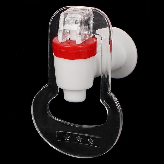 DealMux Cozinha dispensador de água Empurre 3pcs Tipo de plástico torneira Toque Branco Vermelho - - Amazon.com