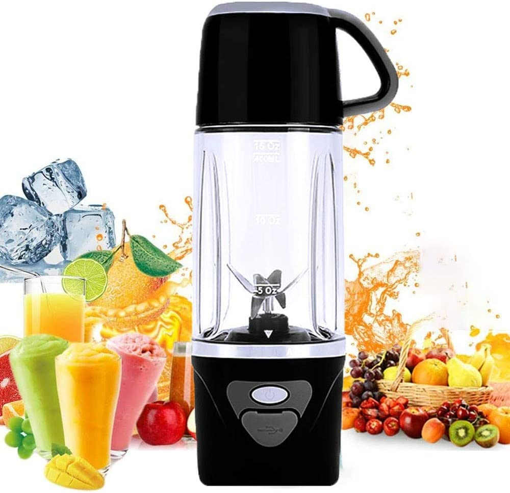 Pink Portable Smoothie Blender Personal Size Blender USB Rechargeable Personal Blender with 6 Blades 4400mAh Mini Mixer Juicer Cup Small Shakes and Smoothies Travel Blender