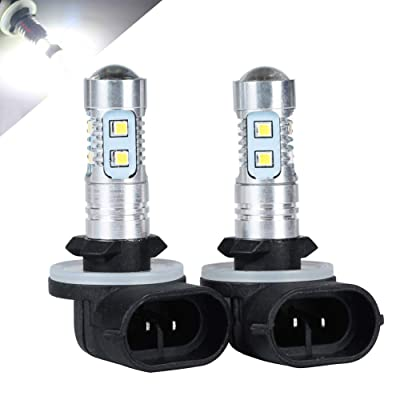 HOTSYSTEM 881 H27W/2 LED Light Bulbs Extremely Bright for Fog Driving DRL Daytime Running Lights(White,2-pack): Automotive