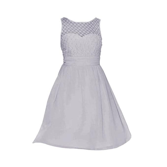 Little Mistress - Vestido de graduación con red de encaje para mujer (44 EU/