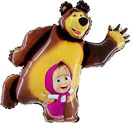 Masha and the Bear Super Shape Figure of Masha Balloon Party Supplies 35 inch