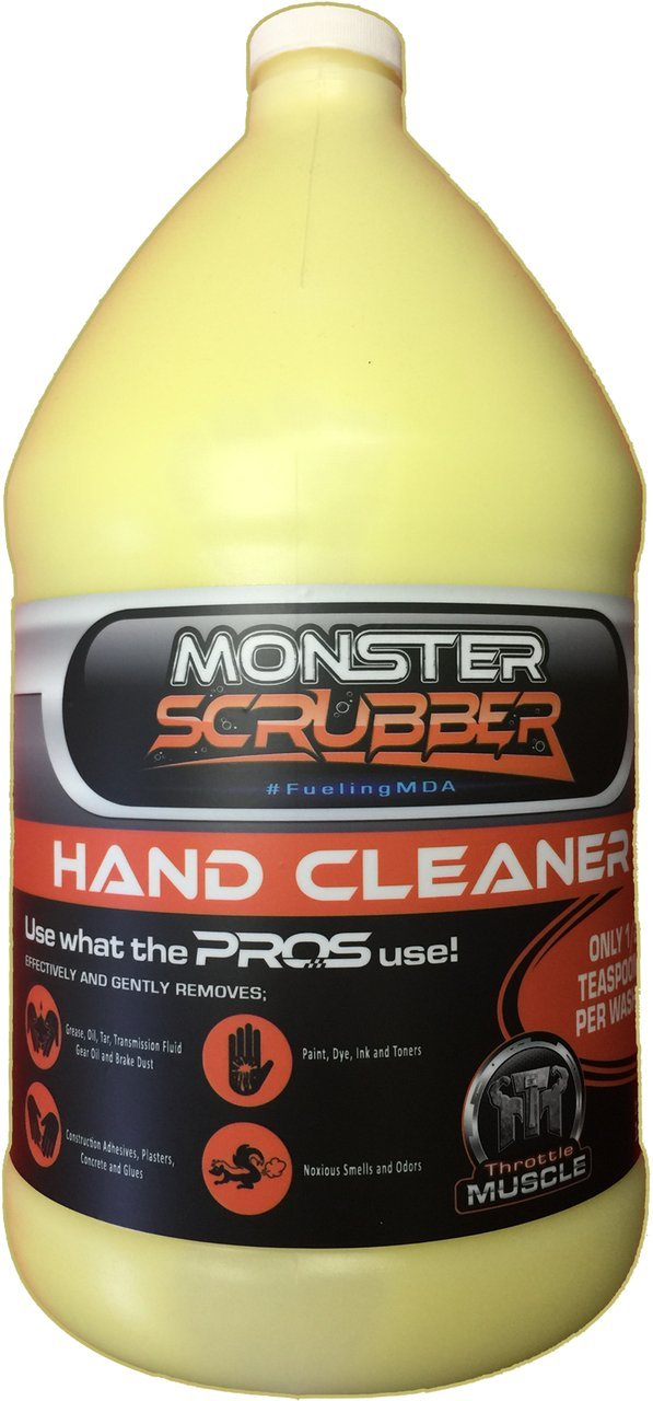 Throttle Muscle TM7627 - Monster Scrubber Industrial Hand Cleaner Micro Polymer Beads with Moisturizer 1 Gallon