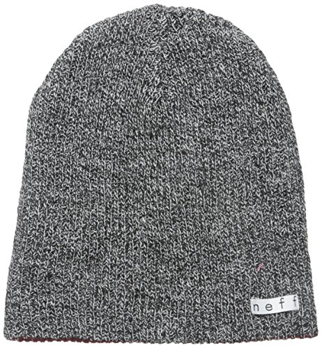 NEFF Men's Daily Reversible Beanie, Black/White Heather/Maroon, One Size ()