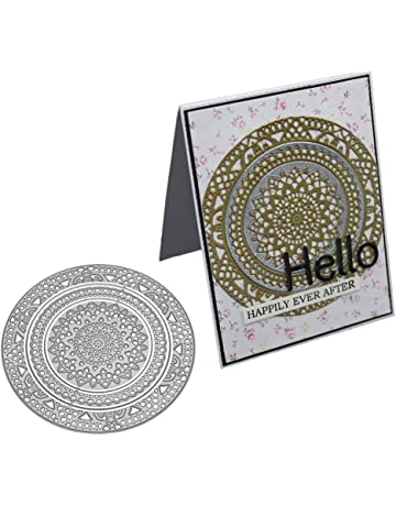 Shangwelluk Troqueles Pad Scrapbooking Círculo Mandala DIY Plantilla para Troqueles de Corte de Metal de para