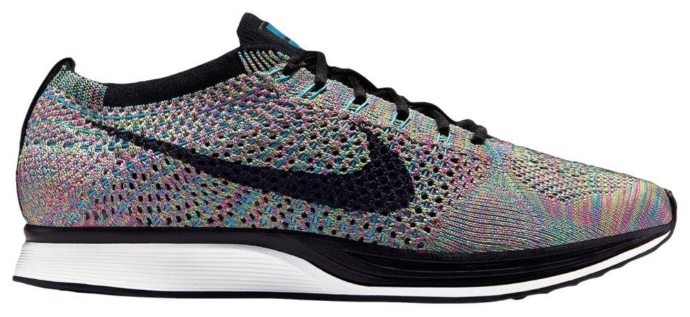 [ナイキ] Nike Flyknit Racer - メンズ ランニング [並行輸入品] B072QX33BH US12.5 Green Strike/Black/Blue Lagoon/Pink Pow