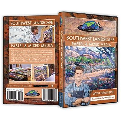 "Sean Dye - Video Art Lessons ""Southwest Landscape"" Pastel and Mixed Media DVD"