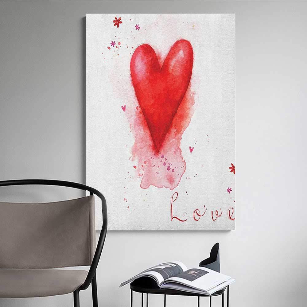 Amazon com: Waterproof Art Wall Paper Poster Love Watercolor