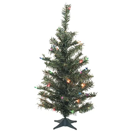 vickerman c812879 canadian pine artificial christmas tree with 146 pvc tips 35 dura lit mini