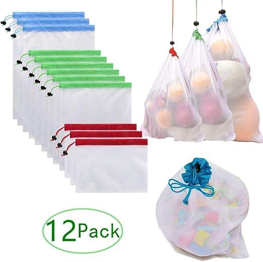 Bolsas reutilizables de producción, malla de algodón natural es ...