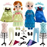 Deluxe Frozen Animators Elsa and Anna Toddler Doll Gift Set