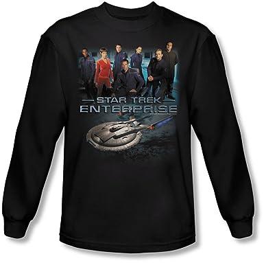Star Trek - para Hombre Enterprise Tripulación Camiseta de Manga ...