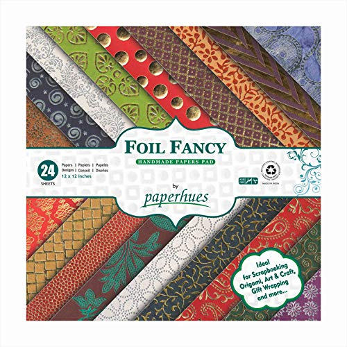 Paperhues Foil Fancy Collection Scrapbook Papers 12x12