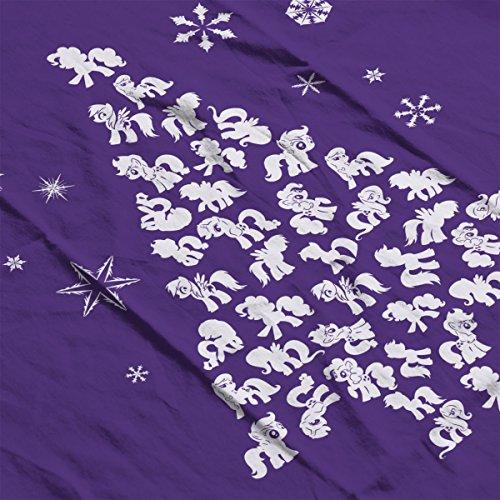 Silhouette Little Purple Jacket My Pony Christmas Tree Men's Varsity white wZwPIxA