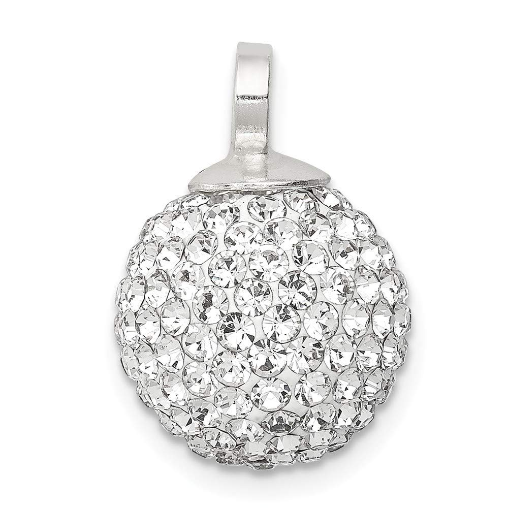 Roy Rose Jewelry Sterling Silver Stellux Crystal 12mm Ball Pendant