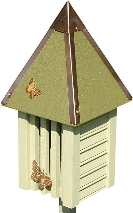 Amazon.com: Flutterbye Casa de mariposas, Blanco / Crema ...