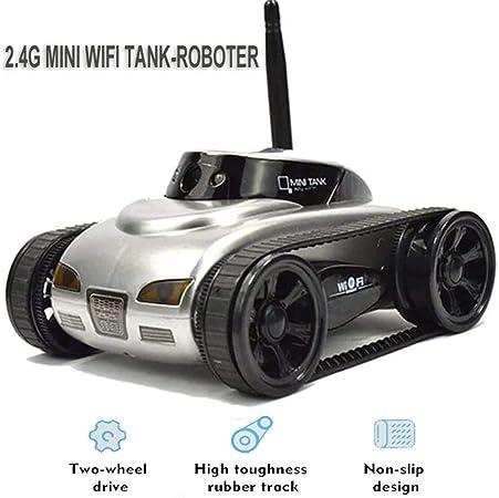 Zhangl RC Coche Mini RC Tanque Robot WiFi, cámara de vídeo de Alta definición a Distancia de Control de Robot Inteligente Coches iOS Anroid App teléfono móvil Control de Juguetes: Amazon.es: Hogar