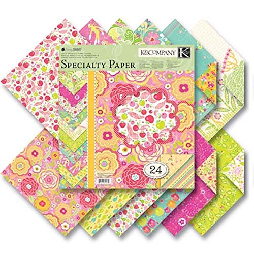 (K & C Company Double Sided Berry Sweet 12 by 12 Scrapbooking Craft Paper 24 Sheet)
