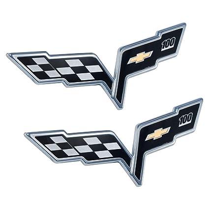 NEW LS7 Black C6 Corvette Z06 Style Emblem Pair 2