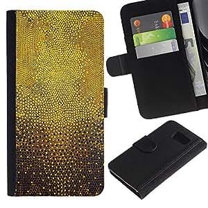 LASTONE PHONE CASE / Lujo Billetera de Cuero Caso del tirón Titular de la tarjeta Flip Carcasa Funda para Samsung Galaxy S6 SM-G920 / Dots Abstract 3D Pattern God Inspiring