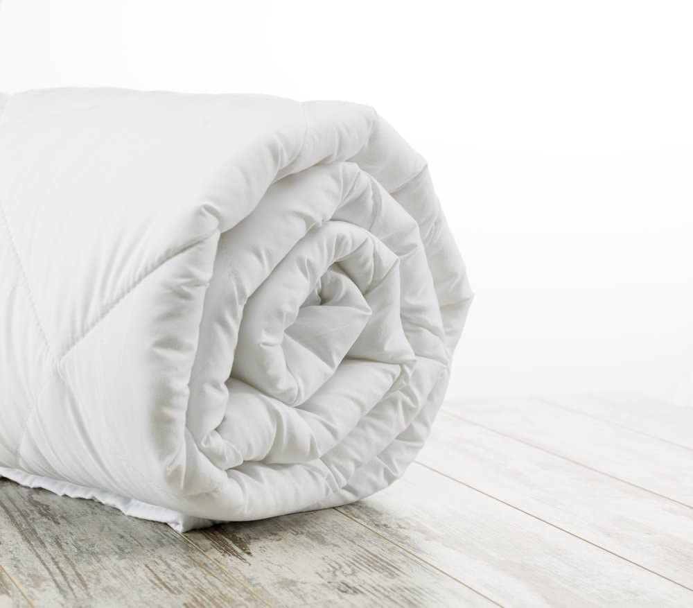 """Sweet Dreams Home Deluxe Hypoallergenic King (79"""" x 83"""" inches; 890 gr/m2) Royal Alpaca Mattress Topper Covered with Pima Cotton 600-Tc, 1 PCE, Thermo, Silky Organic, Vegan, No Smelly, Biodegradable"""