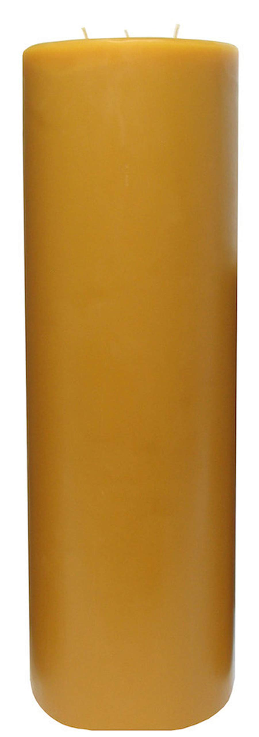 100% Pure USA Beeswax 18'' Tall, 3 Wick Pillar Candle