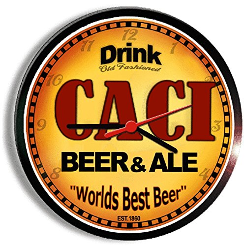 CACI beer and ale cerveza wall clock