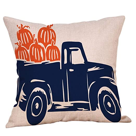 Amazon Halloween Decorations Pillows Case Pumpkin On Truck Amazing Halloween Pillows Decorations