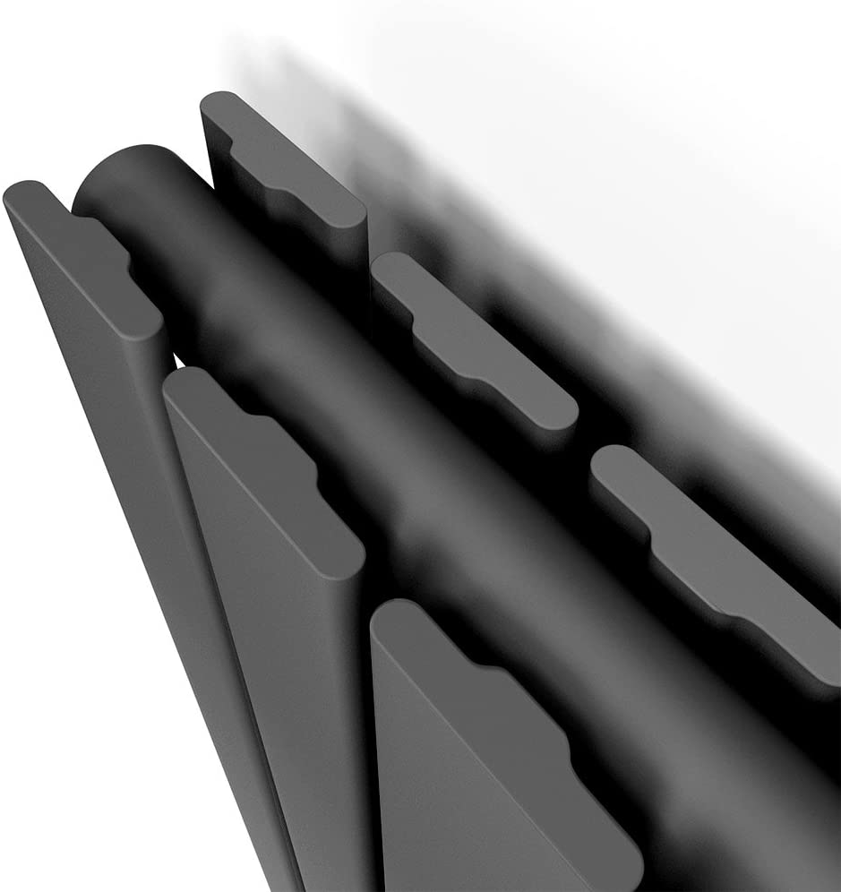 SONNI Paneelheizk/örper Vertikal Flachheizk/örper Anthrazit Doppellagig 1800x308mm Heizung Heizk/örper mit Chrom Multiblock Hahnblock Heizk/örper Thermostat