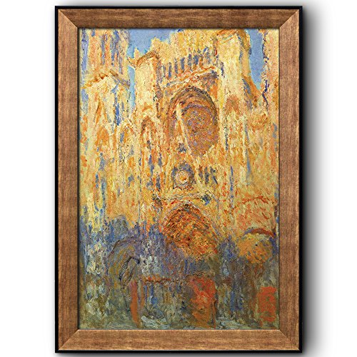 Rouen Cathedral Facade (Sunset) by Claude Monet Framed Art