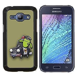 For Samsung Galaxy J1 J100 Case , Diseño Policía Android- Diseño Patrón Teléfono Caso Cubierta Case Bumper Duro Protección Case Cover Funda