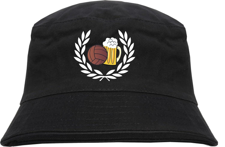 Lorbeerkranz Fussball Bier Fischerhut - Bucket Hat - bestickt