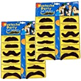 2 Self Adhesive Set 12 Fake Mustaches Costume Party Disguise for Masquerade Party & Performance