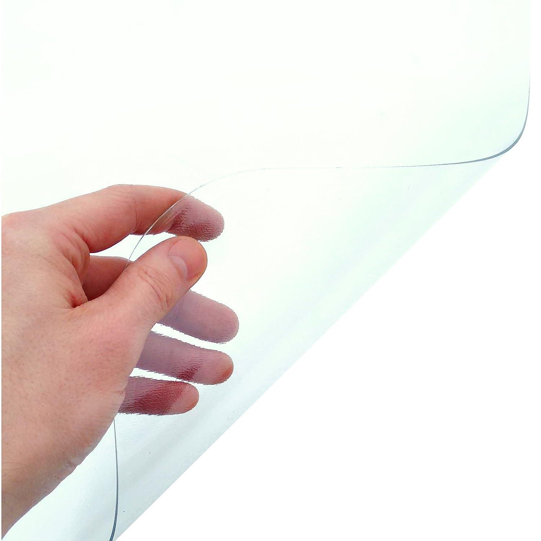 Etm tappetino in pvc per pavimento tappetino multiuso trasparente protezione per superfici rigide trasparente