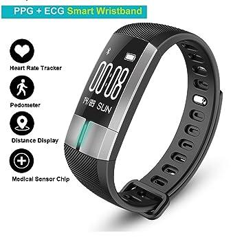 Presión arterial Corazón Tasa pulsera Fitness Tracker - Pulsometros ...