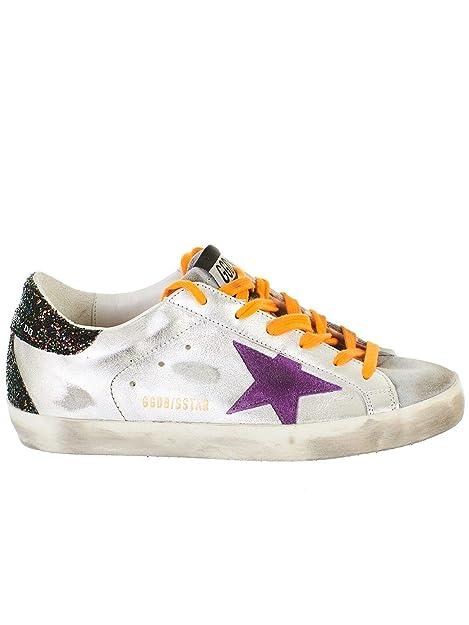 Golden Goose Mujer G34WS590N99 Blanco Cuero Zapatillas: Amazon.es: Zapatos y complementos