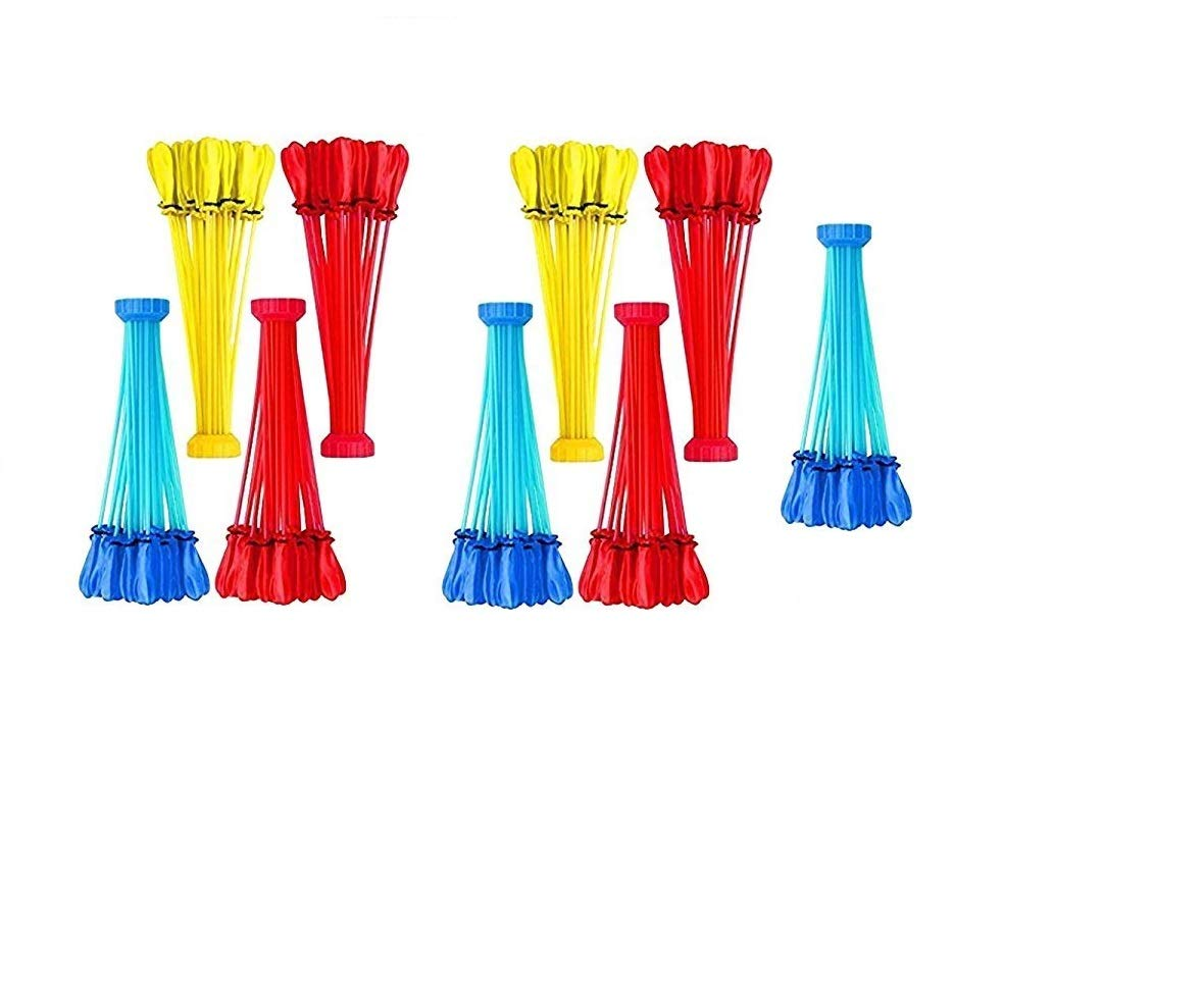 Ezone Instant Fill Water Balloons Bunches of Water Balloons Easy Fill Self Sealing Water Balloons for Summer (3 Packs of 111 ea)