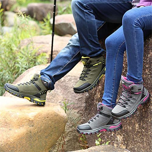 Outdoor Anti Leicht Grün 1 Trekking Wanderstiefel BOLOG und Outdoor Wanderschuhe Damen Herren Bequem Sportlich Rutsch Wandern qwxFvXP1x